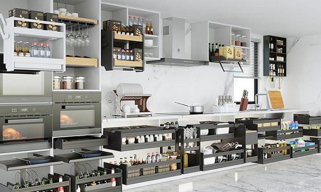 Cách Sắp Xếp Phụ Kiện Nhà Bếp Khoa Học Đầy Đủ Công Năng